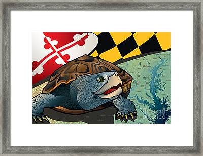 Citizen Terrapin Maryland's Turtle Framed Print