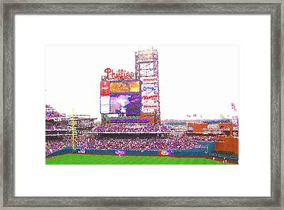 Citizen's Bank Park Framed Print by Barbara Hammond