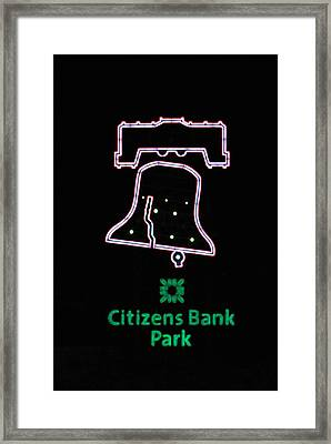 Citizens Bank Park Home Run Framed Print by Lisa Phillips