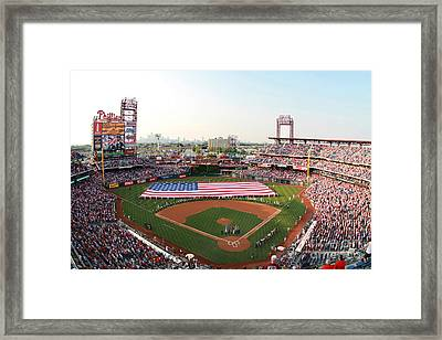 Citizens Bank Park Patriotic  Framed Print