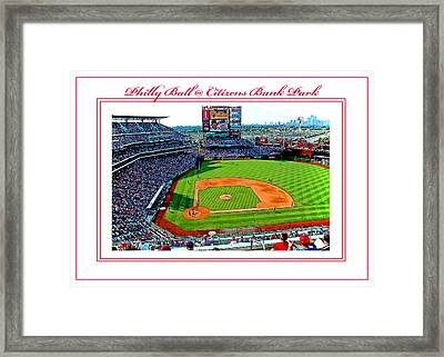 Citizens Bank Park Phillies Baseball Poster Image Framed Print
