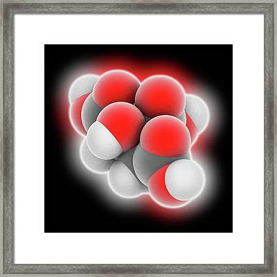 Citric Acid Molecule Framed Print by Laguna Design