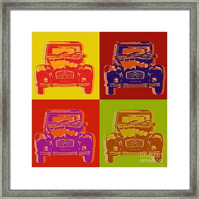 Citroen 2cv Framed Print by Jean luc Comperat