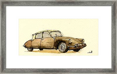Citroen Cs Framed Print by Juan  Bosco