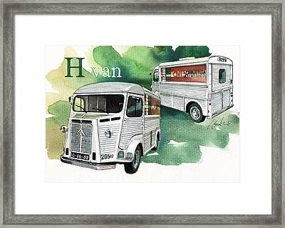 Citroen H Van Framed Print by Yoshiharu Miyakawa