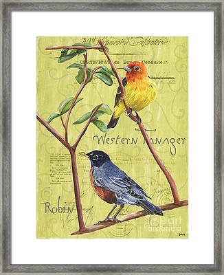 Citron Songbirds 2 Framed Print by Debbie DeWitt