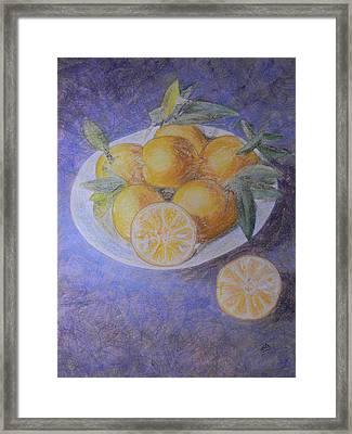 Citrus Framed Print by Adel Nemeth