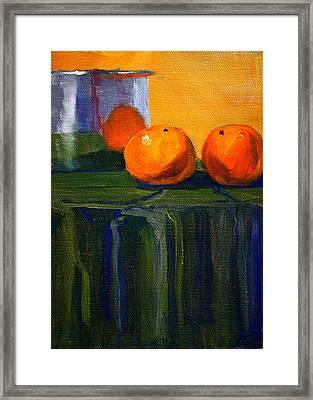 Citrus Chrome Framed Print by Nancy Merkle