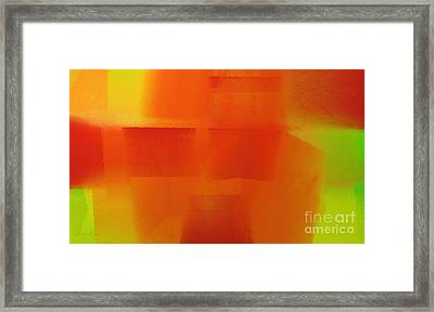 Citrus Connections Abstract Framed Print