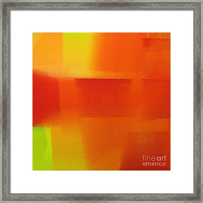 Citrus Connections Abstract Square 1 Framed Print by Andee Design