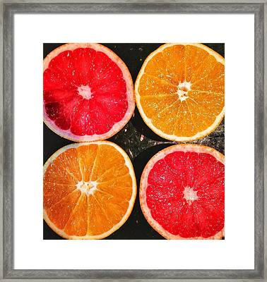 Citrus Foursome Framed Print by Olivier Calas