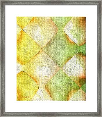 Citrus Grunge Framed Print by Mimulux patricia no No