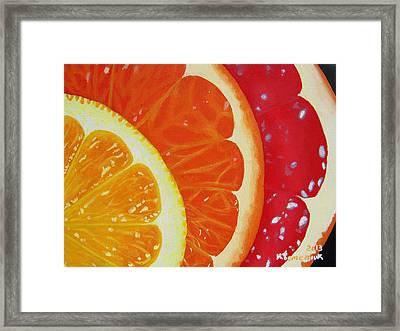 Citrus Hue Framed Print by Kayleigh Semeniuk