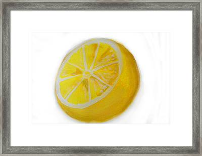Framed Print featuring the painting Citrus by Marisela Mungia