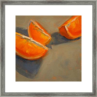 Citrus Meetup Framed Print by Nancy Merkle