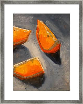 Citrus Mix Up Framed Print by Nancy Merkle