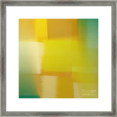 Citrus Motion Abstract Square Framed Print