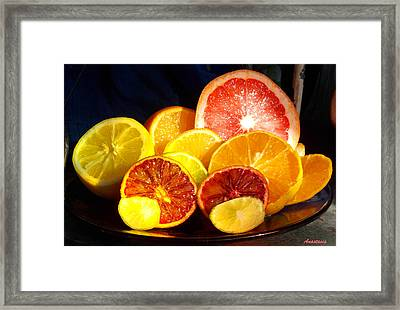 Citrus Season Framed Print by Anastasia Savage Ealy