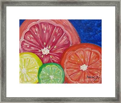 Citrus Slices Framed Print by Laurie Morgan