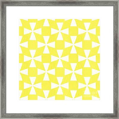 Citrus Twirl Framed Print by Linda Woods