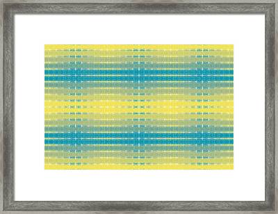 Framed Print featuring the digital art Citrus Warp 3 by Kevin McLaughlin