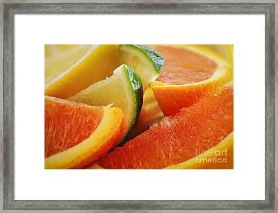 Citrus Wedges Framed Print by Elena Elisseeva