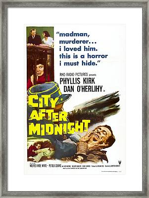City After Midnight, Us Poster, Bottom Framed Print by Everett