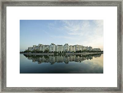 City And Water Framed Print by Ioan Panaite