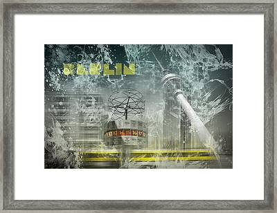 City-art Berlin Alexanderplatz  Framed Print by Melanie Viola