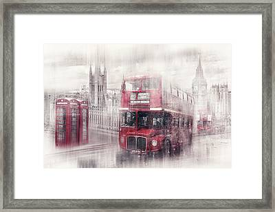 City-art London Westminster Collage II Framed Print by Melanie Viola