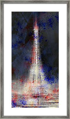 City-art Paris Eiffel Tower In National Colours Framed Print by Melanie Viola