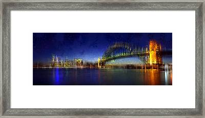 City-art Sydney Framed Print by Melanie Viola