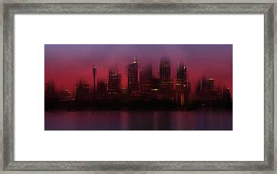 City-art Sydney Skyline Framed Print