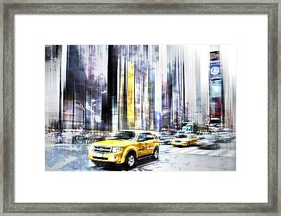 City-art Times Square II Framed Print by Melanie Viola