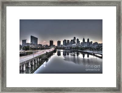 City At Dawn Framed Print
