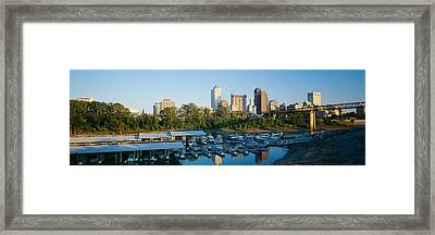 City At Dusk, Memphis, Tennessee, Usa Framed Print by Panoramic Images