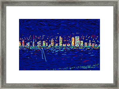 City At Night Framed Print by Anand Swaroop Manchiraju