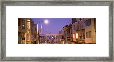 City At Night, San Francisco Framed Print by Panoramic Images