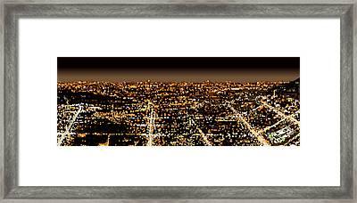 City At Night Framed Print by Shabnam Nassir