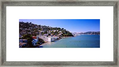 City At The Coast, Sausalito, Marin Framed Print