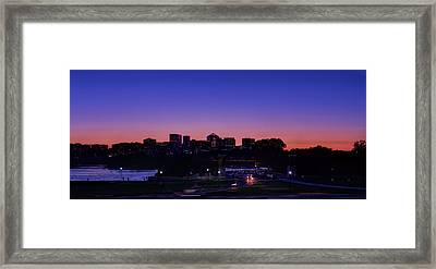 City At The Edge Of Night Framed Print by Metro DC Photography