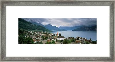 City At The Lakeside, Lake Lucerne Framed Print by Panoramic Images