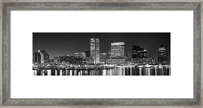 City At The Waterfront, Baltimore Framed Print