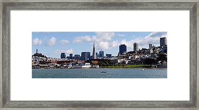 City At The Waterfront, Coit Tower Framed Print