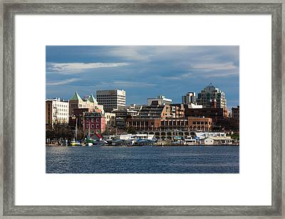 City At The Waterfront, Inner Harbor Framed Print