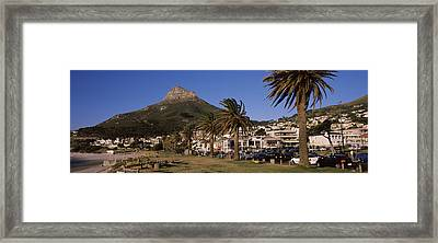 City At The Waterfront, Lions Head Framed Print by Panoramic Images