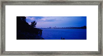 City At The Waterfront, Mississippi Framed Print by Panoramic Images
