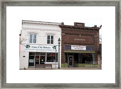 City Bakery In Clare Michigan Framed Print by Terri Gostola