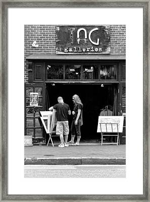 City - Baltimore Md - Tag Galleries  Framed Print by Mike Savad