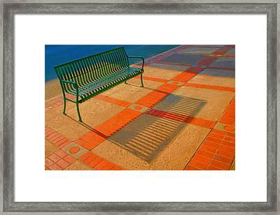 City Bench Still Life Framed Print by Ben and Raisa Gertsberg